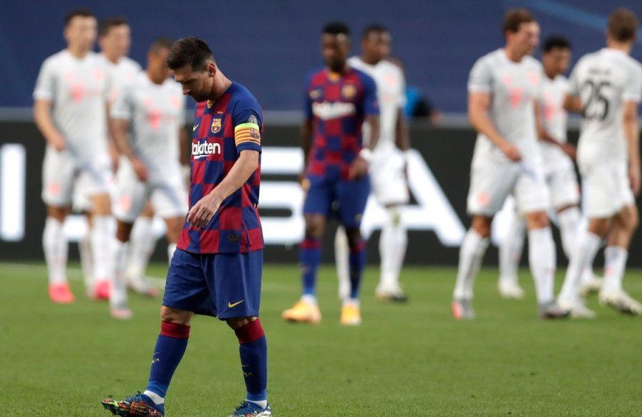 CUTREMUR în Champions League! Messi şi Suarez, în lacrimi pe teren. Barcelona, UMILITĂ de Bayern. Catalanii au primit 8 goluri în cea mai dură înfrângere din istorie!