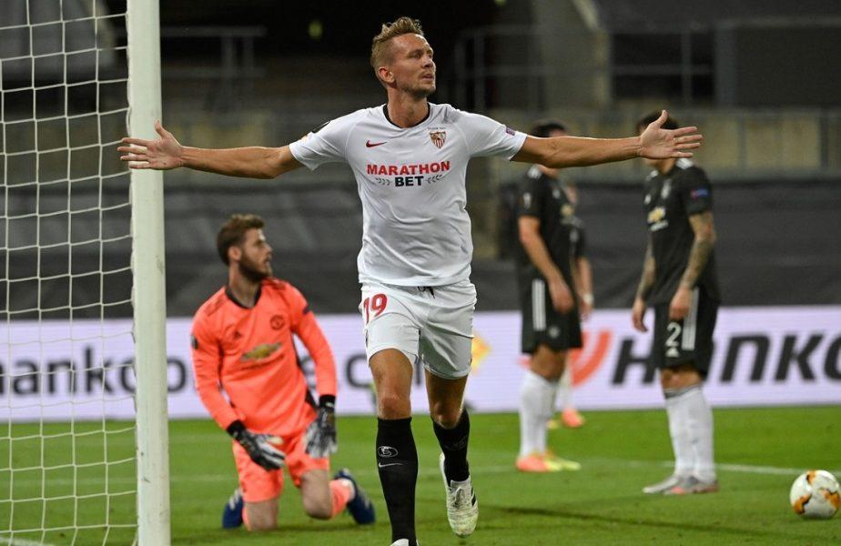 """Sevilla, prima finalistă a Europa League. A învins-o cu 2-1 pe Manchester United. """"Diavolii"""", răpuşi pe final de Luuk de Jong!"""