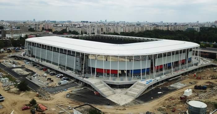VIDEO | Cadre spectaculoase de la noul stadion Steaua. Se montează gazonul şi se fac ultimele finisaje! Fanii roş-albaştrilor au toate motivele să fie încântaţi