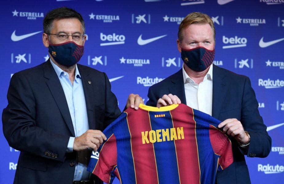 Ronald Koeman, prezentat oficial la Barcelona! Ce strategie va adopta şi mesajul pentru Messi