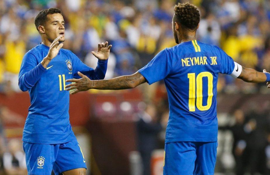 """Neymar şi Coutinho: Duelul """"gemenilor"""" din finala UEFA Champions League."""