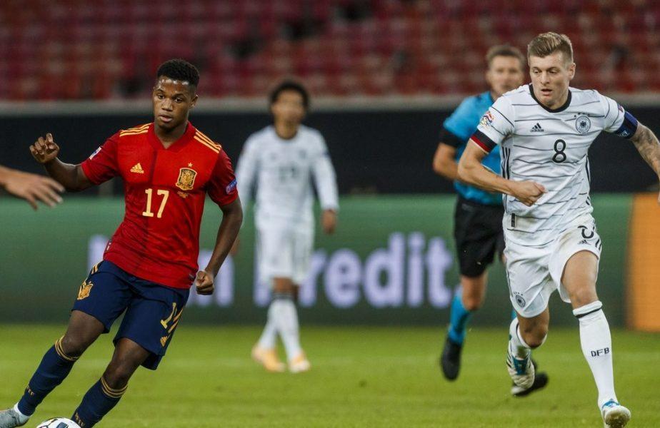 Nu are permis, dar are gol în națională! Ansu Fati, cel mai tânăr marcator din istoria Spaniei