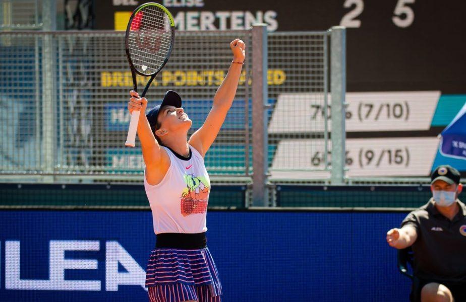 Simona Halep, pe terenul de tenis