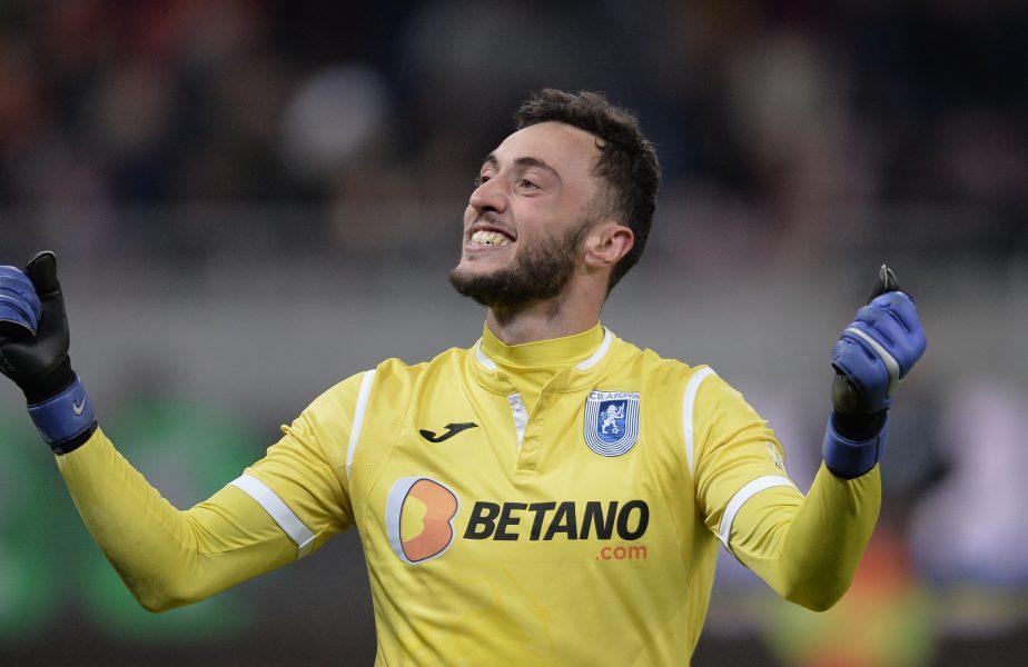 """""""Ci vediamo, Mirko!"""" Portarul Universității Craiova, tot mai aproape de revenirea dorită în Italia. Trei echipe se luptă pentru el"""