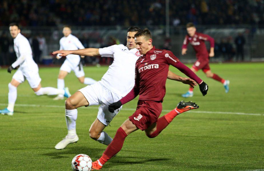 CFR Cluj – FC Hermannstadt 1-0. Mondialul Vinicius aduce o victorie chinuită. Oaspeții, ocazie uriașă la ultima fază a meciului
