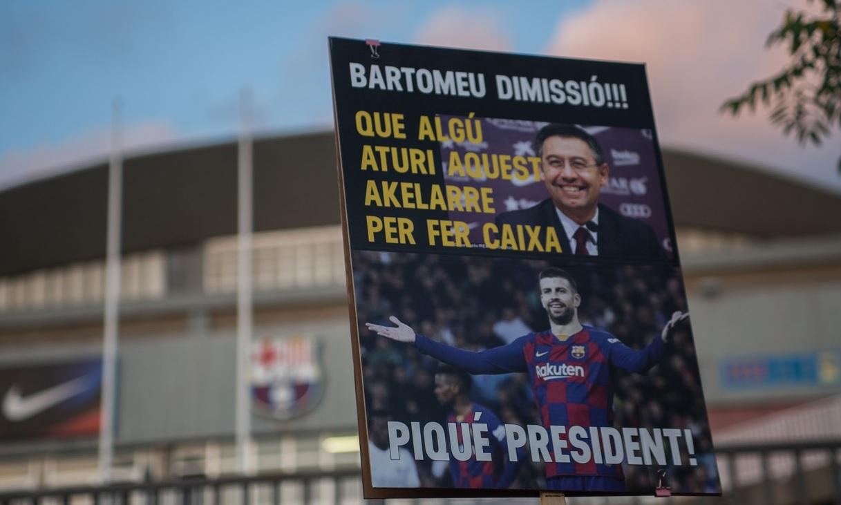 Protest în Barcelona pentru demiterea lui Josep Maria Bartomeu