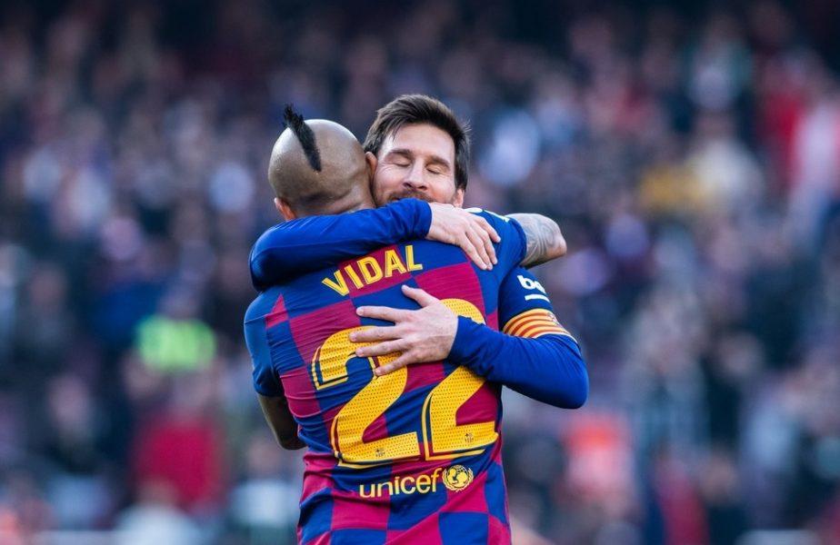"""""""Întotdeauna mi-ai părut un fenomen!"""" Messi, mesaj emoționant pentru Vidal după plecarea acestuia la Inter"""