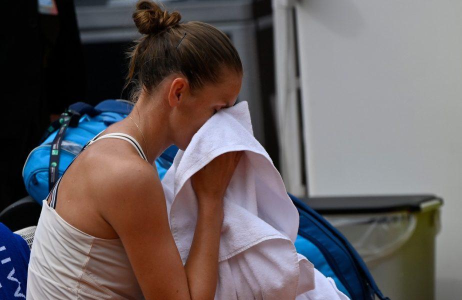 """Karolina Pliskova, doborâtă de accidentarea din finala cu Simona Halep: """"Simona a jucat foarte bine şi nu aveam şanse dacă nu eram la 100%"""""""