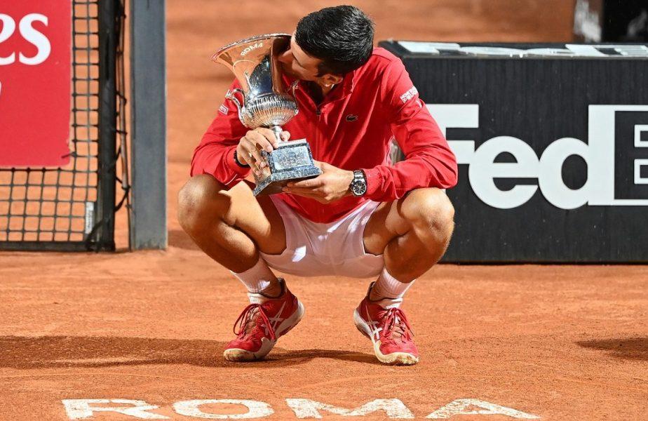 Novak Djokovic, campion la Roma! Sârbul a scris istorie după victoria cu Schwartzman. Recordul stabilit de liderul ATP