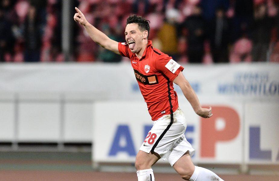 Paul Anton după un gol pentru Dinamo