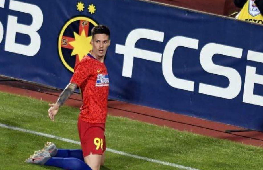 MM, p-ăsta l-ai văzut? Penalty uşor acordat pentru FCSB după un contact în careu între Man și Isma Lopez. La pauză, Mihai Stoica a atacat arbitrajul