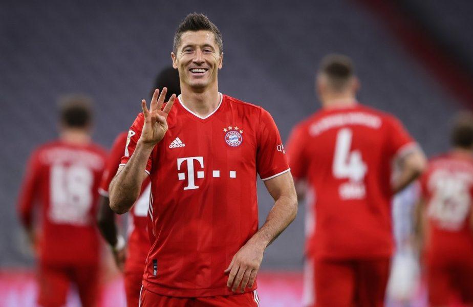 """""""Să-mi spuneți Lew4nGoalski!"""" Robert Lewadowski, show total în Bundesliga. 4 goluri împotriva celor de la Hertha Berlin"""
