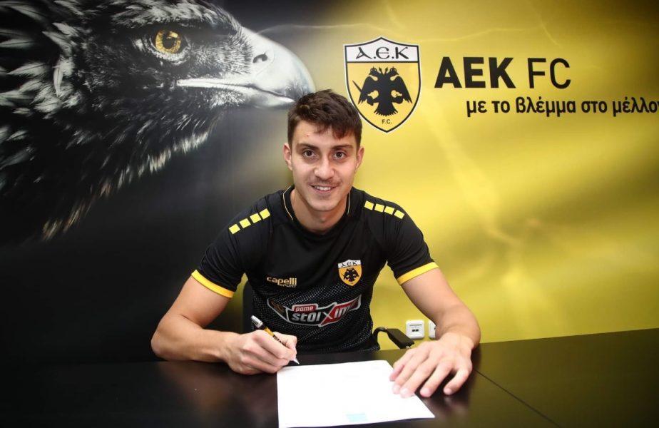 OFICIAL! Nedelcearu a semnat cu AEK Atena! Cum l-au prezentat grecii pe fundașul naționalei
