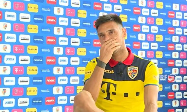 VIDEO emoționant! Camora, cu lacrimi în ochi la primul interviu în tricoul naționalei României