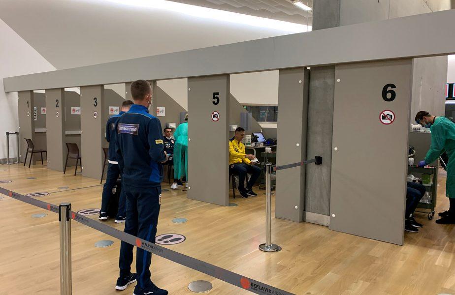 FOTO Islanda – România | Imagini inedite de la sosirea tricolorilor! Întreaga delegație a fost testată de COVID-19, chiar pe aeroport