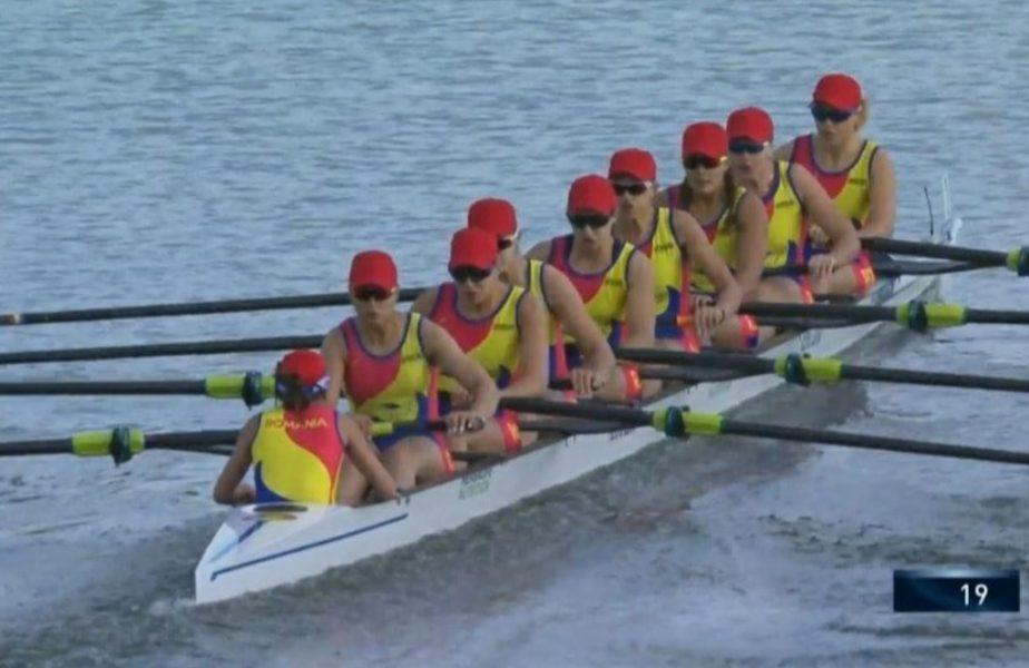 Vâslim spre victorie! Echipajul de canotaj feminin 8+1, aur la Europeanul de la Poznan. Delegația României a cucerit 6 medalii