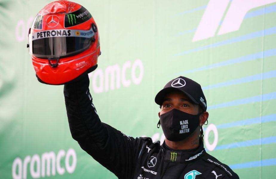 Lewis Hamilton a obținut un succes uriaș în Marele Premiu de la Eifel. A egalat recordul lui Schumacher și a primit un cadou memorabil