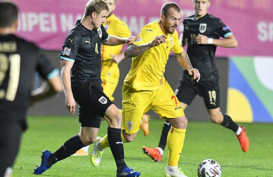 """""""E dureros!"""" Denis Alibec, dărâmat după înfrângerea cu Austria: """"Nu am fost în stare să marcăm"""""""