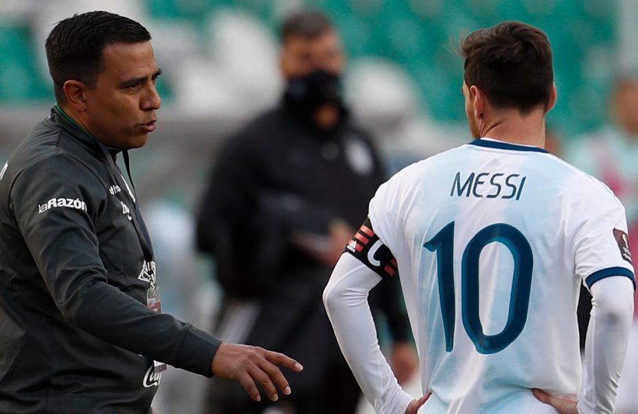"""""""Mi-am numit fiul după el!"""" Ce spune fizioterapeutul Boliviei care aproape s-a luat la bătaie cu Lionel Messi"""
