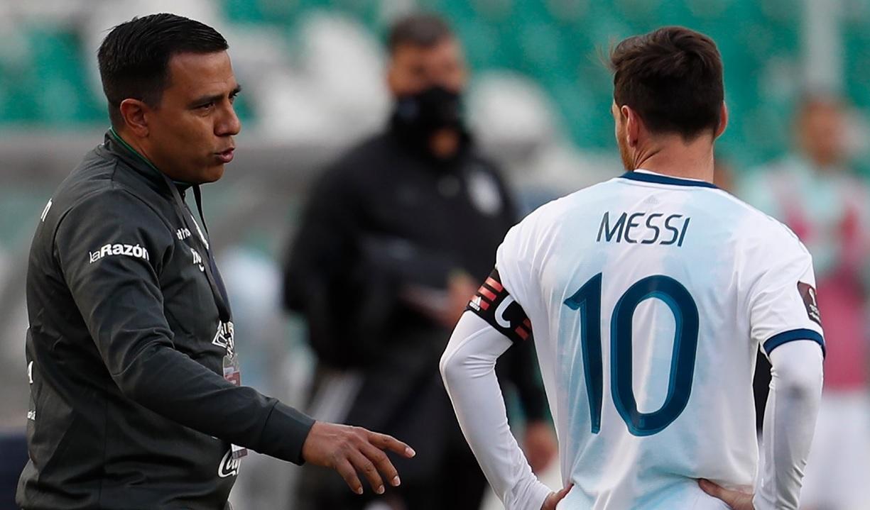 Leo Messi și Cesar Farias