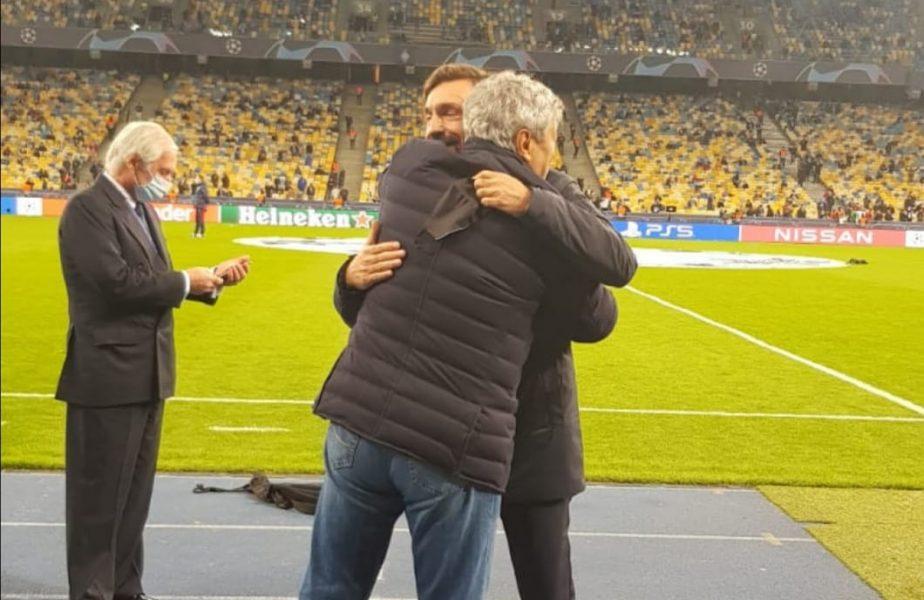 Mircea Lucescu și Pirlo nu au mai ținut cont de regulile din pandemie. Moment copleșitor, înainte de Dinamo Kiev – Juventus