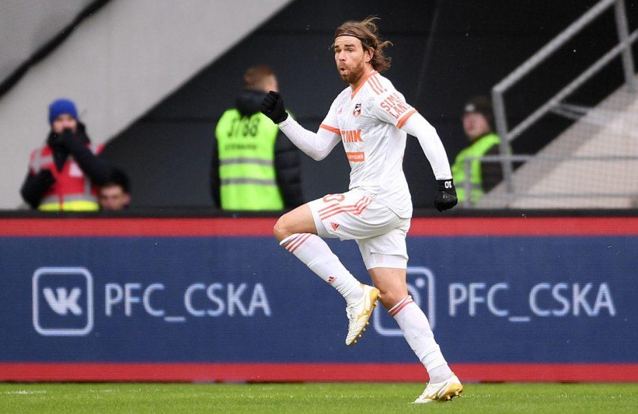 VIDEO   Gol fabulos reușit de Eric Bicfalvi în Rusia. Mijlocașul român a marcat din propria jumătate! A înscris 3 goluri în 8 minute