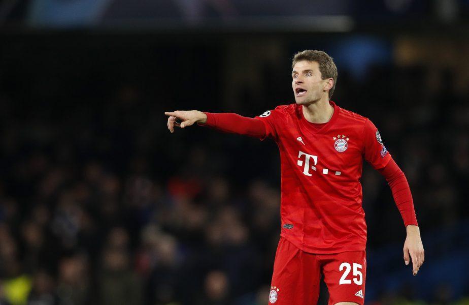 """Moment ireal în Bayern – Atletico! Thomas Muller a făcut o adevărată criză de nervi: """"Tu îmi arăți cartonașul galben pentru asta? Jucăm cu cei mai mari cotonogari din fotbal"""""""