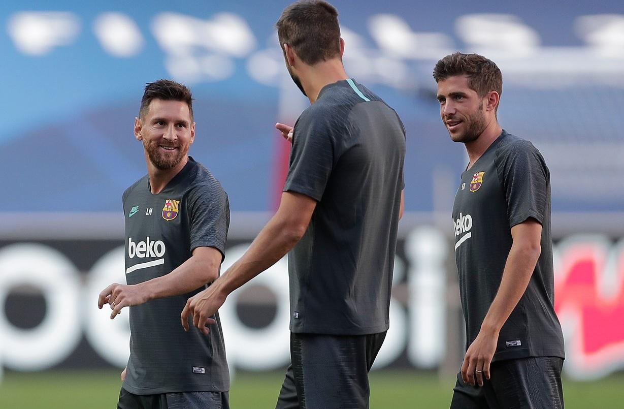 Messi, Pique și Sergi Roberto