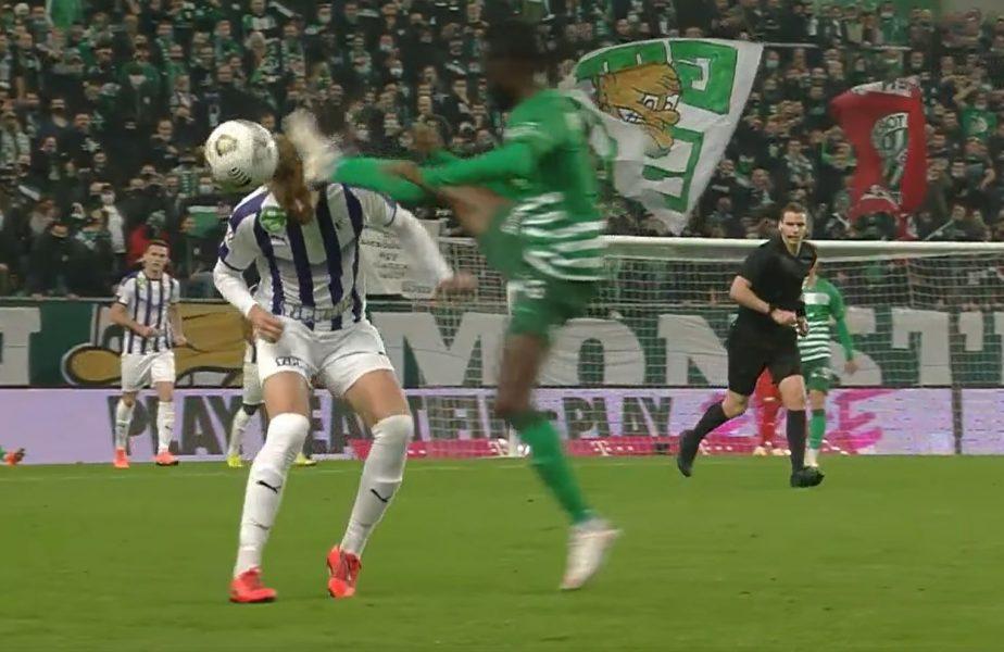 VIDEO | Cea mai dură intrare a anului în fotbal! I-a dat cu gheata în cap adversarului și apoi a sărit la bătaie