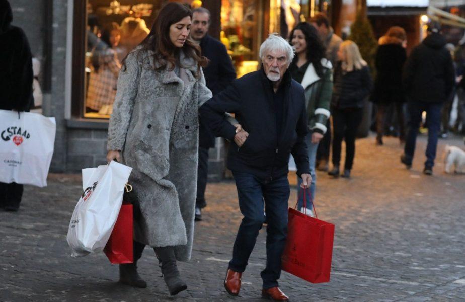 Bernie Ecclestone, alături de soţia Fabiana