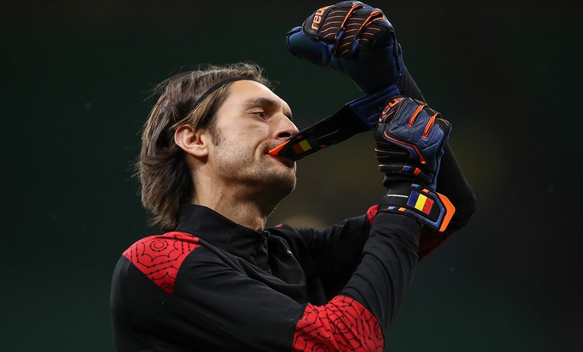 Ciprian Tătărușanu în tricoul lui AC Milan