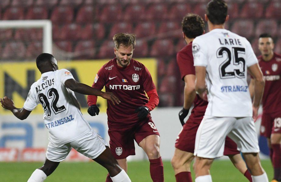 CFR Cluj – Gaz Metan 1-2. Campioana, primul eșec din campionat! Ardelenii au cerut două penalty-uri. Dan Petrescu a luat foc în tribună