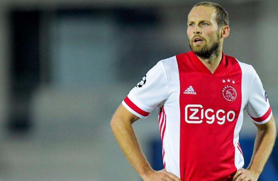 Daley Blind, jucătorul lui Ajax, în timpul meciului cu Atalanta din UEFA Champions League