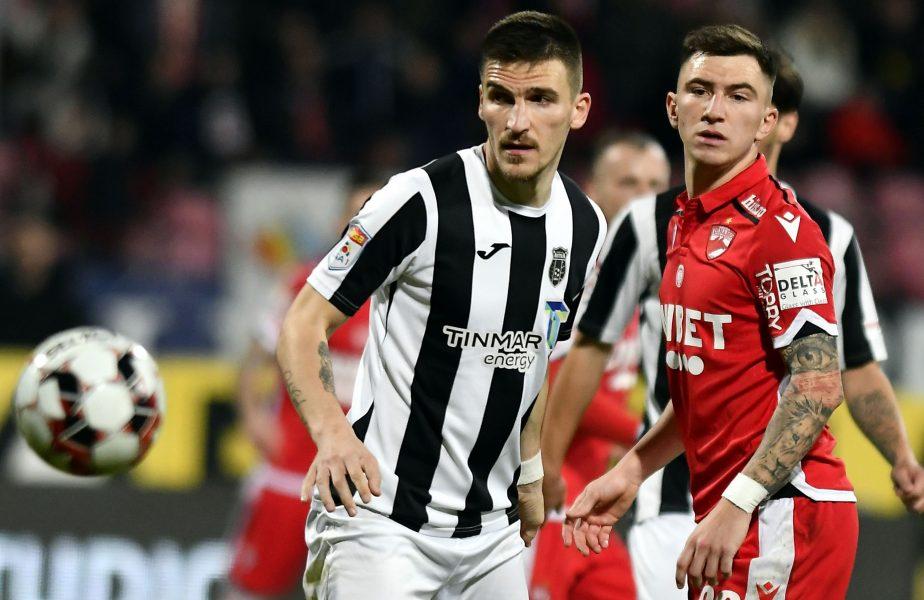 Daniel Graovac și Deian Sorescu într-un meci între Astra și Dinamo