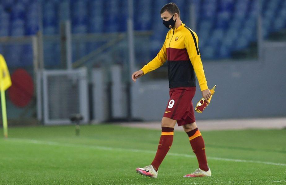 Edin Dzeko, testat pozitiv cu Covid-19 la nici 24 de ore după meciul cu CFR Cluj. Emoţii mari pentru campionii României