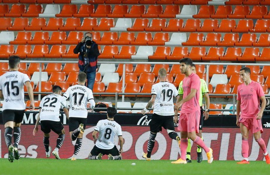 Valencia – Real Madrid 4-1. Meci ireal pe Mestalla! Arbitrul a acordat trei penalty-uri, toate decise prin VAR, împotriva echipei lui Zidane