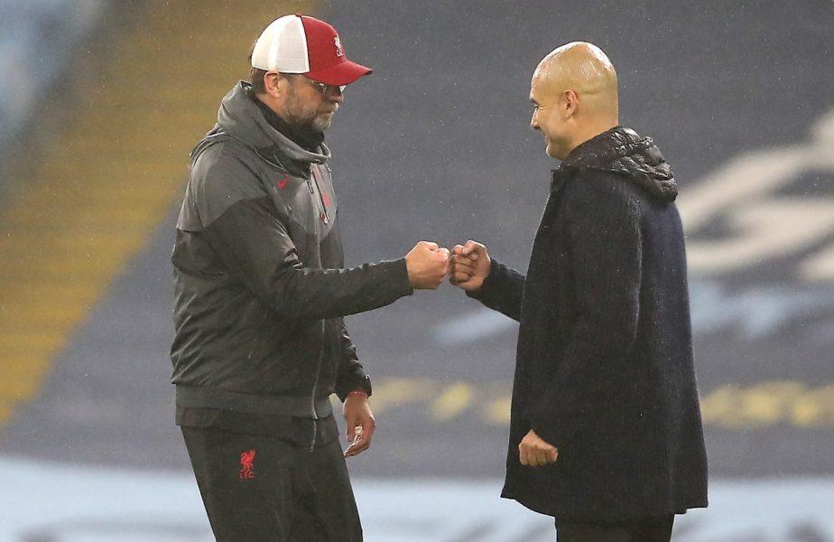 """""""Cineva trebuie să înceapă să gândească!"""" Jurgen Klopp și Pep Guardiola, atac dur asupra fotbalului englez"""