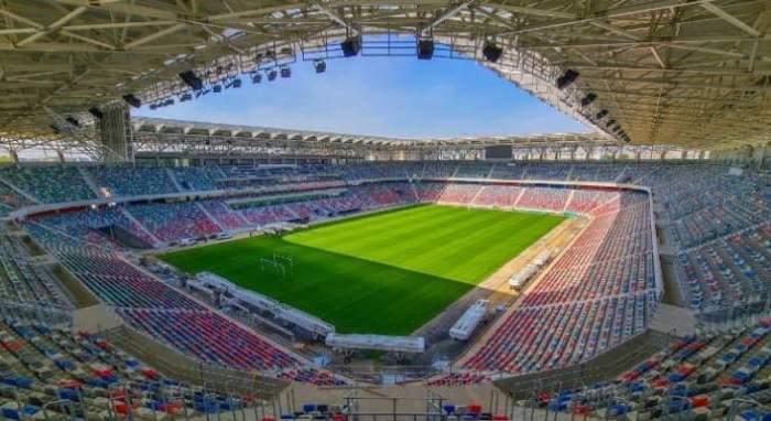 Imagine din interiorul stadionului Steaua