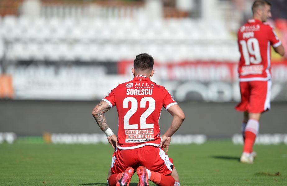 Deian Sorescu într-un meci pentru Dinamo