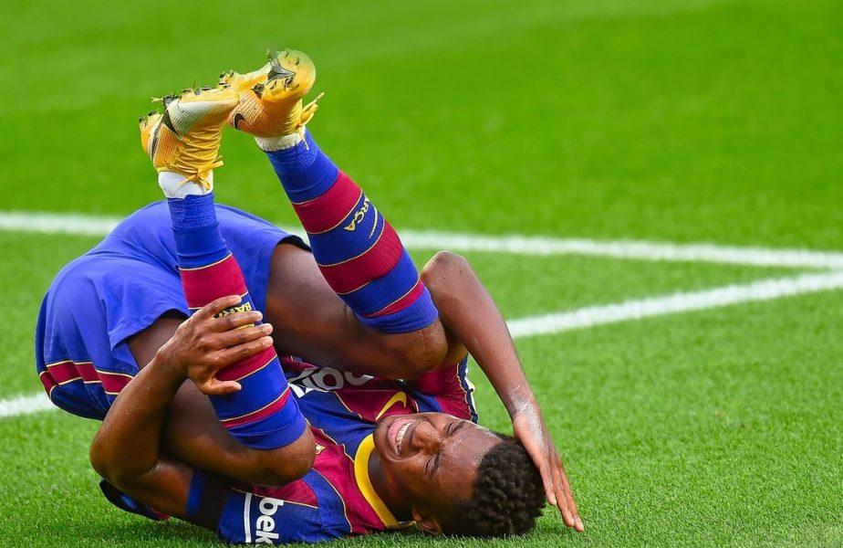 Ansu Fati a fost externat! Prima imagine cu puștiul-minune de la Barcelona. Cât va lipsi de pe teren după accidentarea horror
