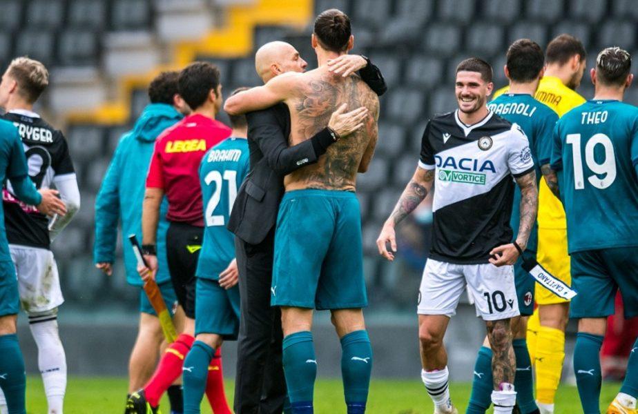 Covid-19 nu s-a speriat de Zlatan şi a lovit-o din nou pe AC Milan! Antrenorul lui Ciprian Tătăruşanu, testat pozitiv