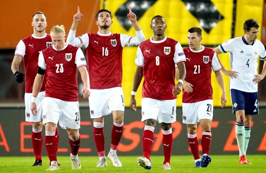 """Austria – Irlanda de Nord 2-1. """"Minunea"""" a ţinut numai şase minute! Calcule complicate în grupa României din Liga Naţiunilor"""