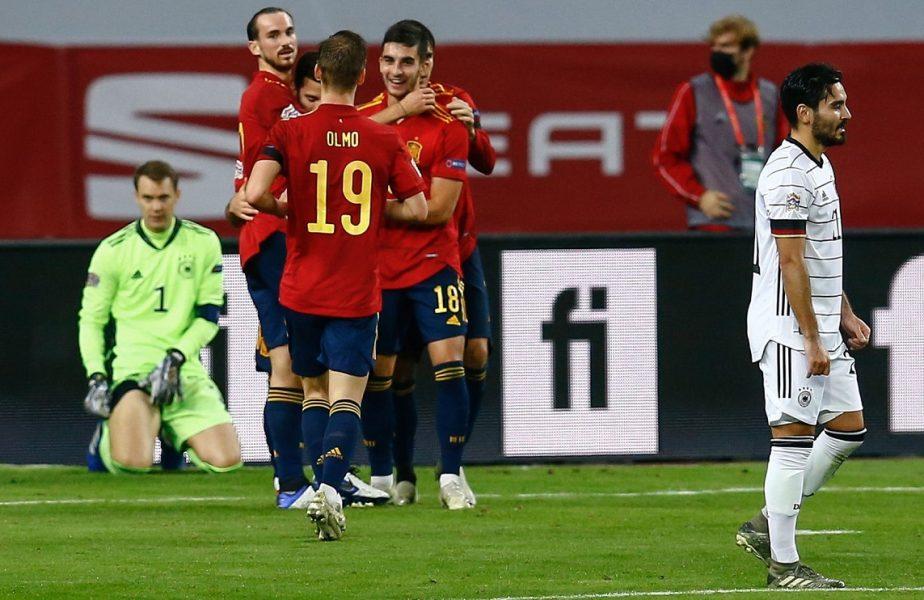 Rezultat halucinant în Liga Națiunilor! Spania – Germania 6-0. La Roja i-a făcut pe nemți să vadă stele verzi