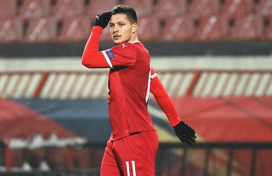 Serbia – Rusia 5-0. Luka Jovic i-a ajutat pe tricolori. Evoluţie fantastică a atacantului de la Real Madrid