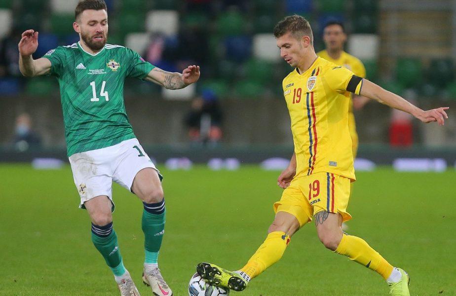 Florin Tănase, în meciul dintre Irlanda de Nord și România