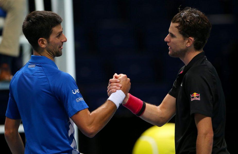 Dominic Thiem, în finala Turneului Campionilor! Victorie uriaşă cu Djokovic, la capătul un ui meci epic. Prima reacţie a austriacului
