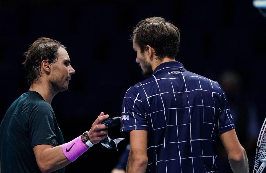 Rafael Nadal, eliminat de la Turneul Campionilor după ce a servit pentru finală. Medvedev, victorie uriaşă şi duel de vis cu Dominic Thiem