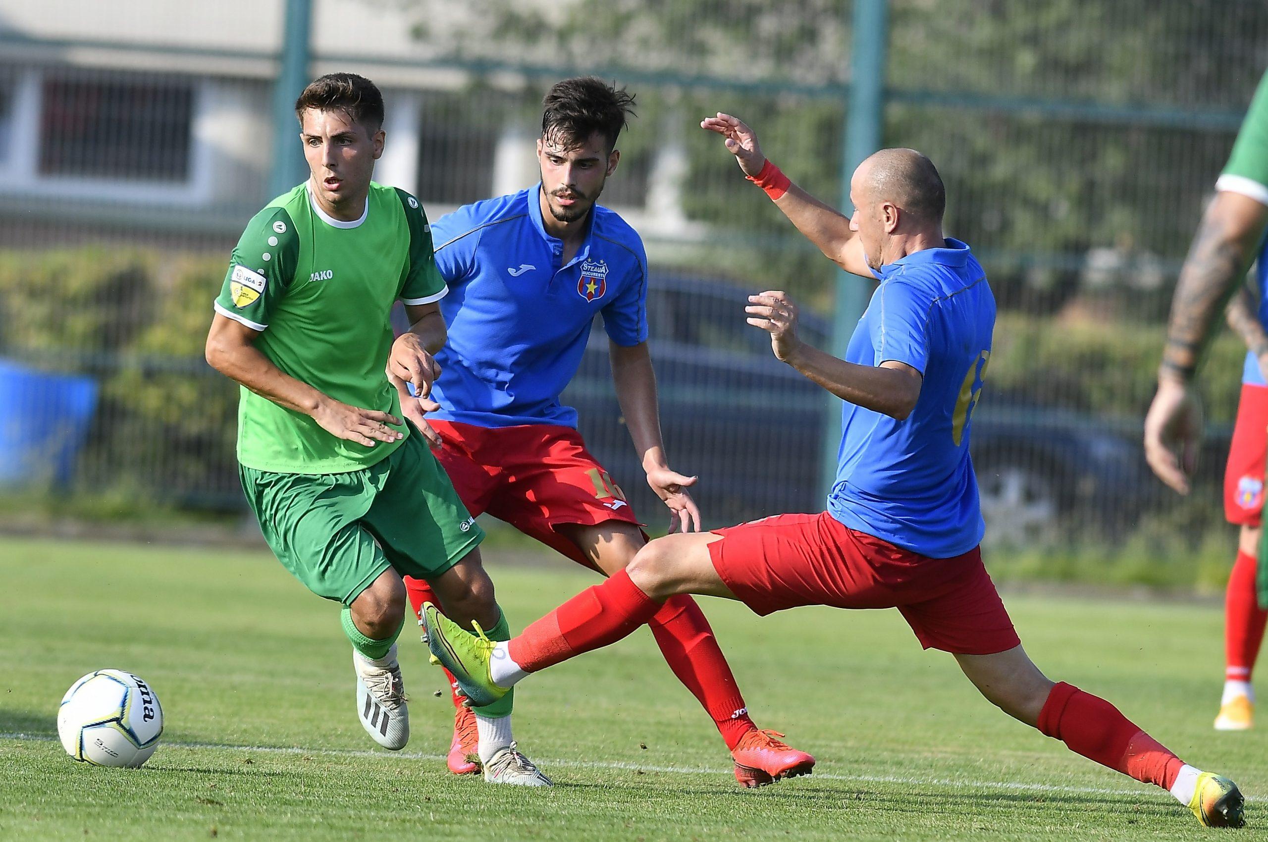 Jucători de la Steaua în meciul cu CS Balotești