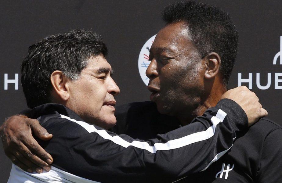 """Pele, mesaj tulburător după ce Diego Maradona a murit: """"Într-o zi, sper că vom putea juca fotbal împreună, în ceruri"""""""