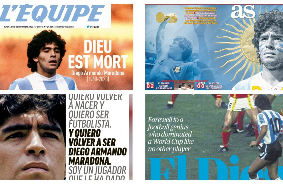 """Moartea lui Diego Maradona a șocat lumea! Titlurile presei internaționale după ce """"El Pibe D'oro"""" a decedat"""